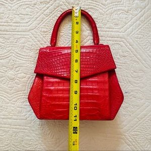 {Nancy Gonzalez} Large Red Authentic Crocodile Bag